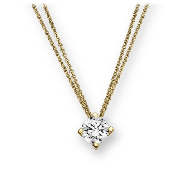 Collier in geelgoud 14 kt. met 0,3 ct. Briljant tw,vs van Eternal Touch - E-2U7DY-GG5-1IV6N1Z