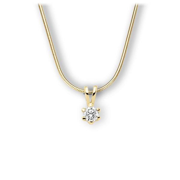 Collier in geelgoud 14 kt. met 0,4 ct. Briljant tw,vs van Eternal Touch - E-3WJX9-GG5-1IV561Z