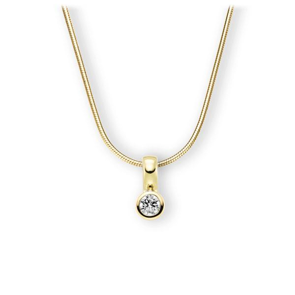 Collier in geelgoud 14 kt. met in totaal 0,25 ct. Briljant tw,vs van Eternal Touch - E-3WIXT-GG5-2KTPHZ
