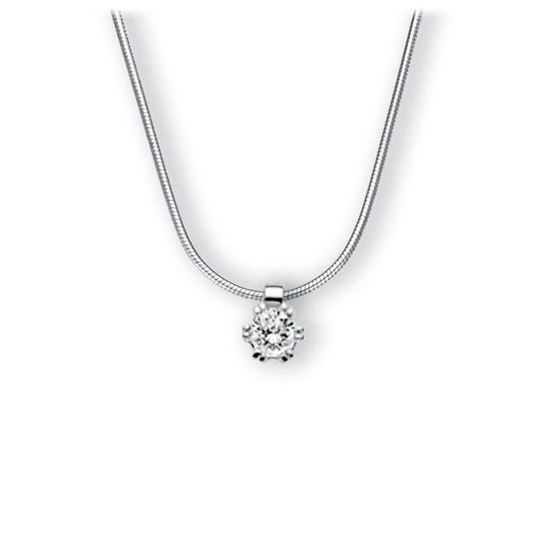 Collier in witgoud 14 kt. met 0,4 ct. Briljant tw,vs van Eternal Touch - E-3WIPM-WW5-1IV561Z