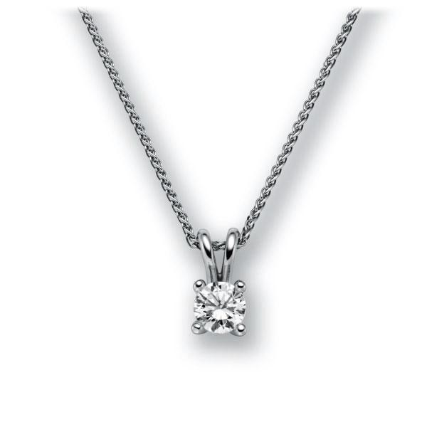 Collier in witgoud 14 kt. met 0,7 ct. Briljant tw,vs van acredo - A-10L8SM-WW5-1IV4J1Z