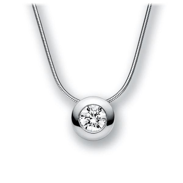 Collier in witgoud 14 kt. met 0,7 ct. Briljant tw,vs van acredo - A-10M6QV-WW5-1IV4XRZ