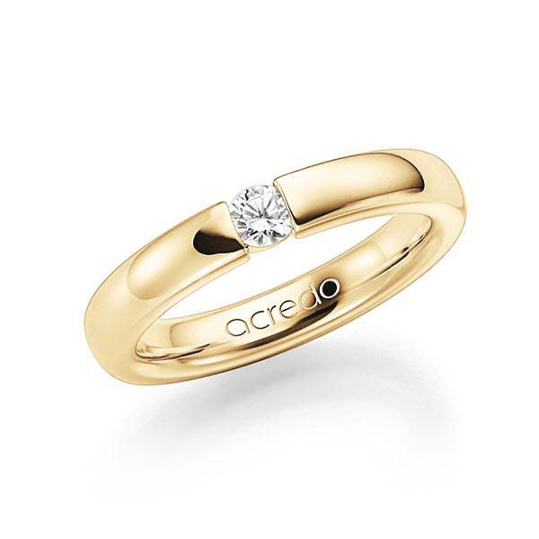 Memoire/Diamantenring in geelgoud 14 kt. met in totaal 0,15 ct. Briljant tw,vs van acredo - A-7X7VB-G5-2LH73Z