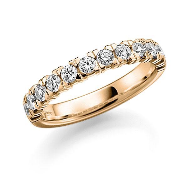 Memoire/Diamantenring in roségoud 14 kt. half gezet met in totaal 0,72 ct. Briljant tw,vs van acredo - A-7Y8T1-E5-95PIBZ