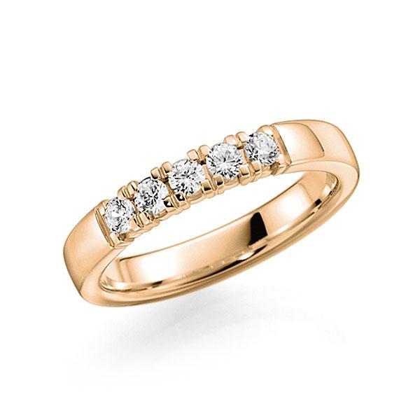 Memoire/Diamantenring in roségoud 14 kt. met in totaal 0,3 ct. Briljant tw,vs van acredo - A-7INLG-E5-2LGKJZ