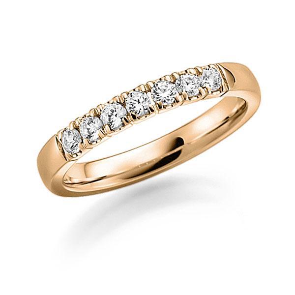 Memoire/Diamantenring in roségoud 14 kt. met in totaal 0,49 ct. Briljant tw,vs van acredo - A-7WX5R-E5-2LGLPZ