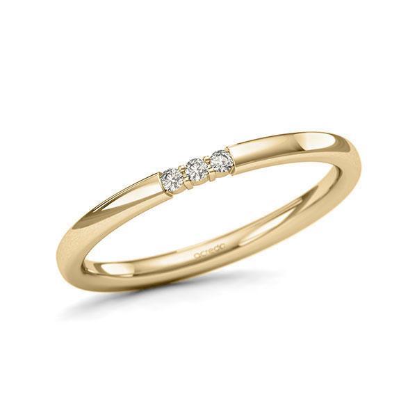 Memoire/Diamantring in Gelbgold 585 mit zus. 0,045 ct. Brillant tw, si von acredo - A-11QEQ8-G5-1T61FFZ
