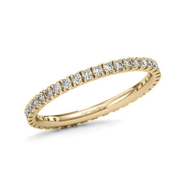 Memoire/Diamantring in Gelbgold 585 vollausgefasst mit zus. 0,57 ct. Brillant tw, si von acredo - A-11QGIF-G5-1U0LI3Z