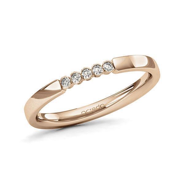 Memoire/Diamantring in Roségold 585 mit zus. 0,075 ct. Brillant tw, si von acredo - A-11MIXN-E5-1T61TZZ