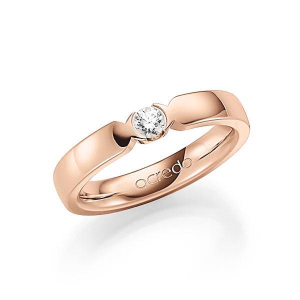Memoire/Diamantring in Rotgold 585 mit zus. 0,15 ct. Brillant tw, vs von acredo - A-7J0D6-R5-2LH73Z