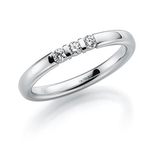 Memoire/Diamantring in Weißgold 585 mit zus. 0,09 ct. Brillant tw, vs von acredo - A-7J1AR-W5-2LGI7Z