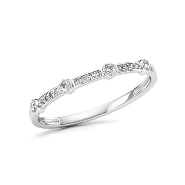 Memoire/Diamantring in Weißgold 750 mit zus. 0,046 ct. w, si - BD-11T23Z-W7-1U5QN9Z