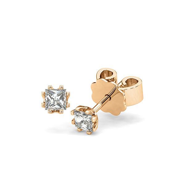 Ohrstecker in Roségold 585 mit zus. 0,4 ct. Prinzess-Diamant tw, vs von acredo - A-12I1H1-E5-1MIVG6Z