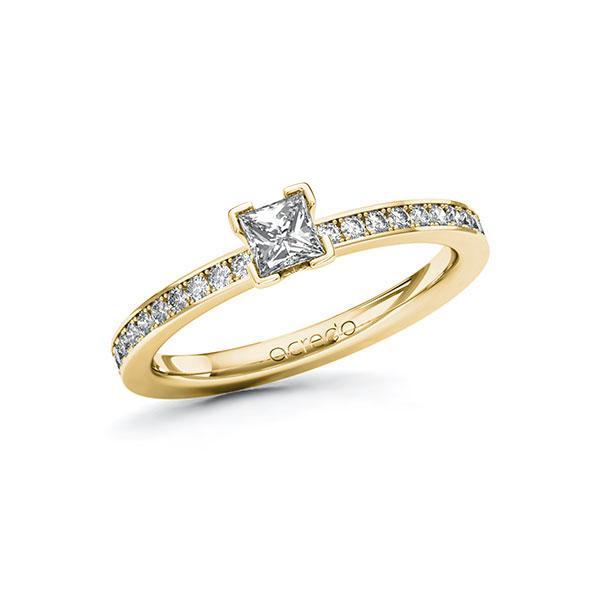 Verlobungsring in Gelbgold 585 mit 0,3 ct. + zus. 0,2 ct. Prinzess-Diamant tw, vs tw, si von acredo - A-ZWHY6-GG5-1R47TSZ