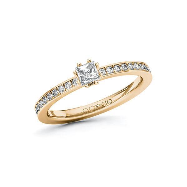 Verlobungsring in Roségold 585 mit zus. 0,45 ct. Prinzess-Diamant tw, si von acredo - A-ZYPEI-EE5-1R84SLZ