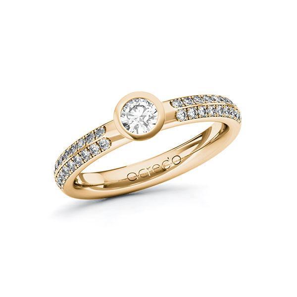 Verlobungsring in Roségold 585 mit zus. 0,538 ct. Brillant tw, si von acredo - A-ZWMZ9-EE5-1R4HIGZ