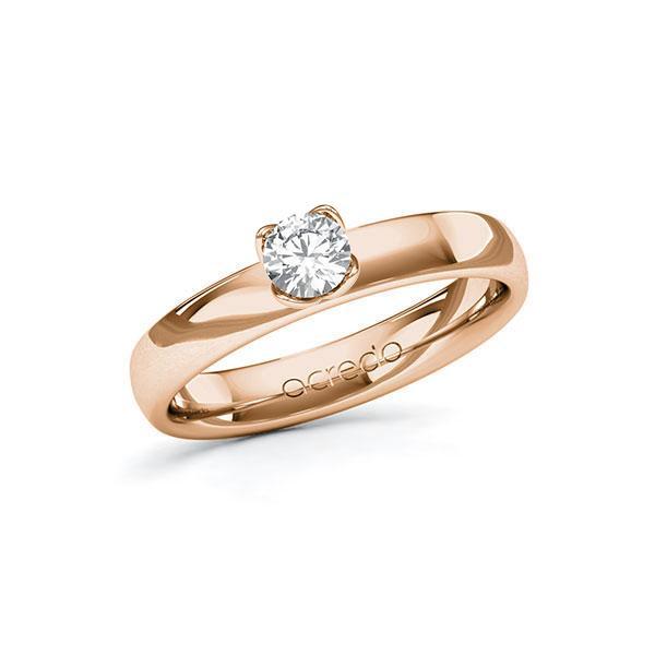 Verlobungsring in Rotgold 585 mit 0,3 ct. Brillant tw, si von acredo - A-10FUD4-RR5-1R8BIUZ