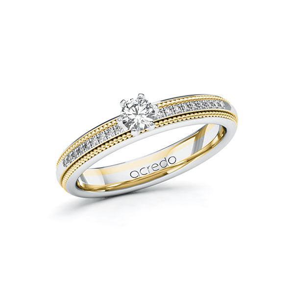 Verlobungsring in Weißgold 585 Gelbgold 585 mit zus. 0,29 ct. Brillant tw, si von acredo - A-11LECL-WGW5-1SVHP3Z
