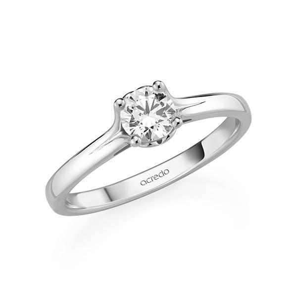 Verlobungsring in Weißgold 585 mit 0,5 ct. Brillant tw, si von acredo - A-11Q92W-W5-1R7K9KZ