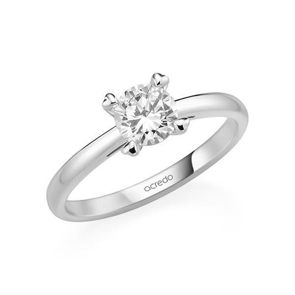 Verlobungsring in Weißgold 585 mit 0,7 ct. Brillant tw, si von acredo - A-11QGGE-W5-1R7K9LZ