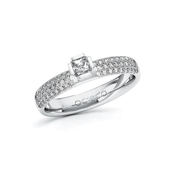 Verlobungsring in Weißgold 585 mit zus. 0,632 ct. Prinzess-Diamant tw, si von acredo - A-10G4ZM-WW5-1R7VYEZ