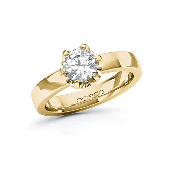 Verlovingsring in geelgoud 14 kt. met 1 ct. Briljanten tw/si van acredo - A-10DEZ0-GG5-1R7LEVZ